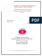 70980661 Project Report on Analytical Study of Impact of Foreign Institutional Investors Fiis on Exchange Rate and Value of Indian National Rupee Inr in t