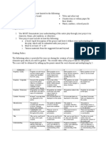 Rubric for Movie Posters