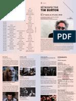 Programme de la rétrospective Tim Burton au cinéma Star Saint-Exupéry de Strasbourg