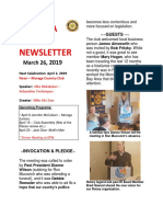 Moraga Rotary Newsletter March 26 2019