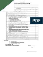 Check List Anamnesis Dan Pemeriksaan Fisik 2017