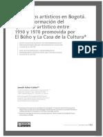 Colectivos artísticos en Bogotá. La transformación del quehacer artístico entre 1950 y 1970 promovida por El Búho y La Casa de la Cultura. Janneth Aldana.