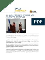 La UNAH Plantea Ofrecer Más Carreras Bimodales