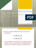 Unidad 05. Teoría Del Consumidor. Efecto Ingreso y Efecto Sustitución