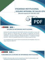 OFICINA DE INTEGRIDAD INSTITUCIONAL DEL SEGURO INTEGRAL DE SALUD