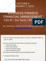 Lecture 6 Business Finance Ppt