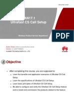 10 Training Course_RAN17 1 Ultrafast CS Call Setup V1 03