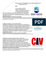 MINISTERIOS DEL PODER EJECUTIVO Y NOMBRES DE LOS QUE REPRESENTA EL GOBIERNO ACTUAL.docx