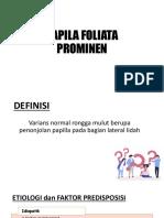 papila Foliata & Sirkumvalata Prominen