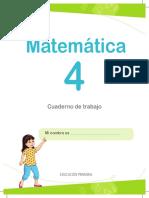 Matemática 4 Cuaderno de Trabajo Para Cuarto Grado de Educación Primaria 2018