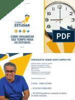 COMO ESTUDAR - PROF. RUBENS SAMPAIO PHD - COMO ORGANIZAR SEU TEMPO DE ESTUDO