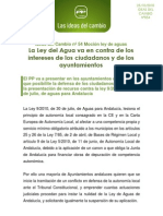 0054 Ideas Del Cambio. Mocion Ley Andaluza Del Agua