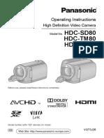 camcorder - panasonic hdc-sd80 - full manual.pdf