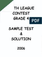 Math Leagues Contest 2006