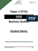 IGCSE Business Studies Revision