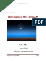 Ramadhaan Has Arrived