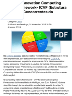 O Modelo Innovation Competing Values Framework- ICVF (Estrutura de Valores Concorrentes da Inovação)