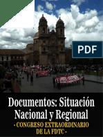 DOCUMENTOS SOBRE SITUACIÓN NACIONAL Y REGIONAL - CONGRESO FDTC.