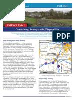 Canonsburg Uranium Site Info (Source
