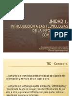 Unidad 1. Introducción a Las Tecnologías de La Información y Comunicación.