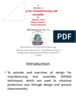 Design for Manufacture and Assembly Final