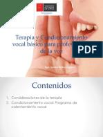 terapia de condicionamiento vocal básica para profesionales de la voz