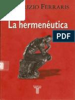Maurizio Ferraris La Hermeneutica.pdf