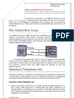 Telephone Instruments, Signals and Circuits