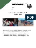 Festivals Invitation Ohrid 2019