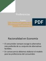 Preferencias microeconomía