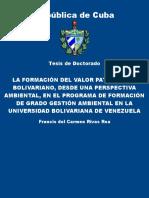La formacion del valor patrioti - Rivas Roa, Francis del Carmen.pdf