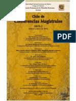 Ciclo de Conferencias Magistrales 2019-2