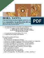 HORA SANTA Con San Pedro Julián Eymard. La Comunión, La Perfección de Amor (68)