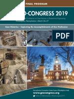 Geo Congress 2019 Final Program
