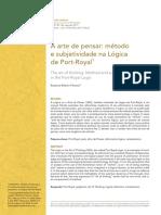 A Arte de Pensar-Método e Subjetividade na Lógica de Port-Royal.pdf