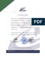 Certificado de Mecanica Diesel