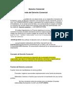 Resumen DERECHO COMERCIAL