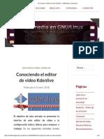 Conociendo El Editor de Vídeo Kdenlive – Multimedia en Gnu_Linux
