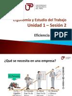 Ergonomia y Estudio Del Trabajo - Unidad 1 - Semana 01 - Sesion 2 Eficiencia y Eficacia