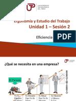 Ergonomia y Estudio del Trabajo  - Unidad 1 - Semana 01 - Sesion 2 Eficiencia y Eficacia.pptx