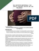 EL MITO DEL INSTINTO MATERNAL Y SU RELACIÓN CON EL CONTROL SOCIAL DE LAS MUJERES.docx
