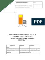 Procedimiento Escrito de Trabajo Seguro - TMR BEGONIAS