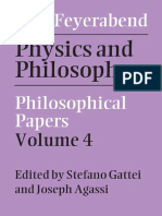 Paul K. Feyerabend - Philosophical Papers, Volume 4_ Physics and Philosophy-Cambridge University Press (2015).pdf