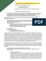 Derecho Procesal Civil i Contenido Segundo Parcial..