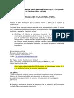Informe Ejecutivo Auditoria Interna de Calidad