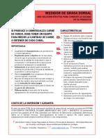 Prospecto Medidor Grasa Dorsal JROV 2019