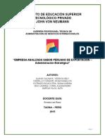 Sabor Peruano de Exportacion 5to a Neumann