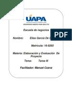 ELABORACION Y EVALUACION DE PROYECTO III.docx