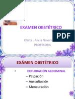 7A..EXAMEN OBSTÉTRICO