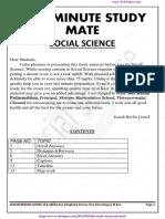 10th Social Last Minute Study Material English Medium